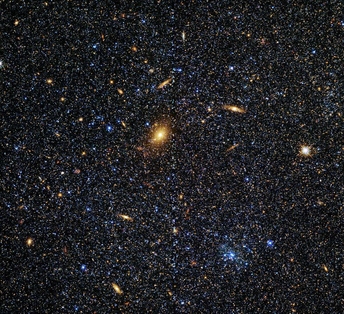 Caldwell 51, also known as IC 1613, is an irregular dwarf galaxy located in the constellation Cetus. Caldwell 51 is difficult to spot and is considered one of the most elusive Caldwell objects. It appears as an extremely faint and diffuse smudge even when viewed through a moderately sized telescope.