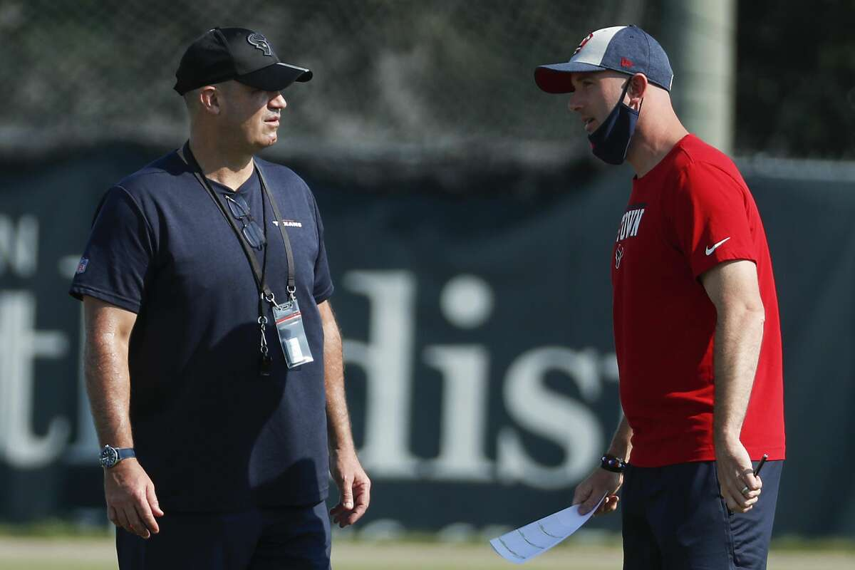 Bill O'Brien (left) is gone, with speculation now swirling about his former right-hand man Jack Easterby's future with the Texans after a Sports Illustrated exposé this week regarding Easterby's career,