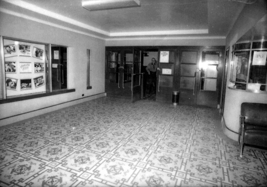 A view of the lobby of the Vogue Theatre in early 1981. (Manistee County Historical Museum photo)