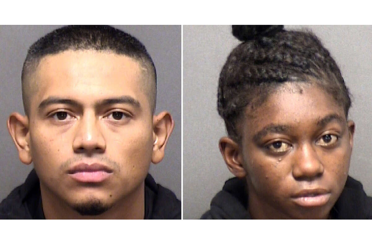 A man and a women arrested last week in connection with the death of a roller skater on the Northeast Side are also accused of violently robbing a man two days before, according to an arrest affidavit. At left is Daniel Calvillo, 28. At right is 20-year-old Keyana Jones.