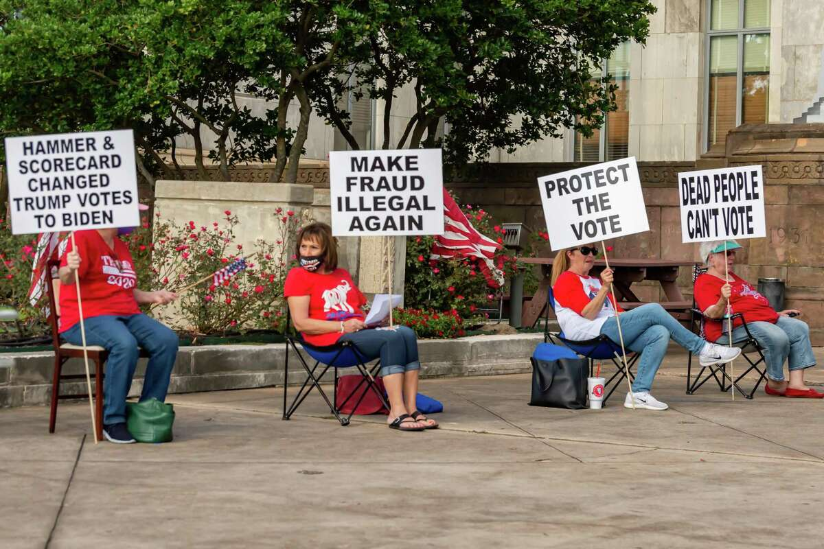 """A number of Southeast Texas government officials spoke at the """"Fair Election"""" rally hosted by the Golden Triangle Republican Women in Beaumont. Photo made on November 21, 2020. Fran Ruchalski/The Enterprise"""