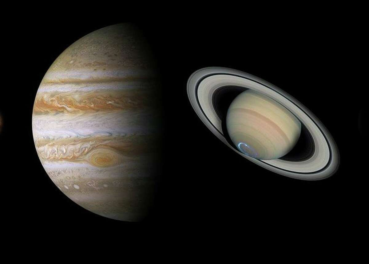 Jupiter and Saturn are shining brightly in the autumn sky. On Dec. 21 their paths will be so close that they'll appear as one, an event that happens only once every 800 years or so.