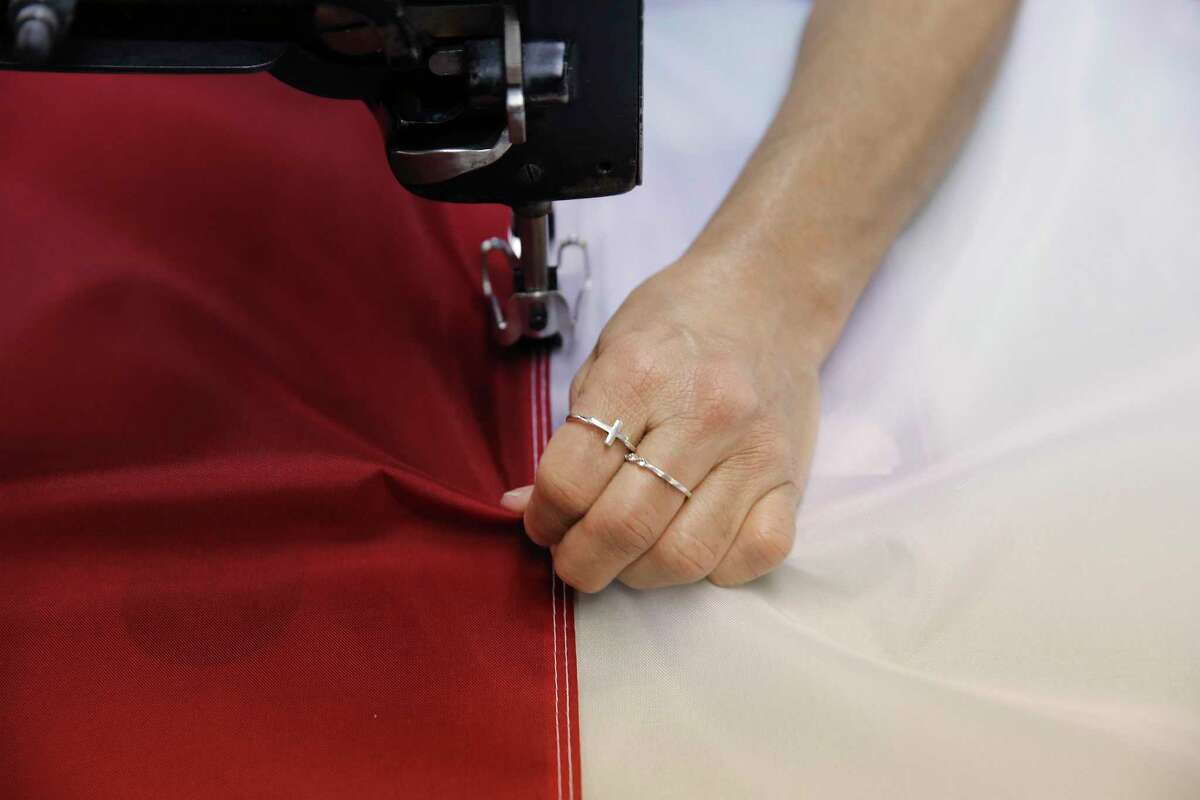 Lucy Rodriguez has been a seamstress for over 25 years and has sewn the flags for the presidential inauguration since 2016. The company is making the five flags that will hang between the columns of the U.S. Capitol during President-elect Joe Biden's inauguration.