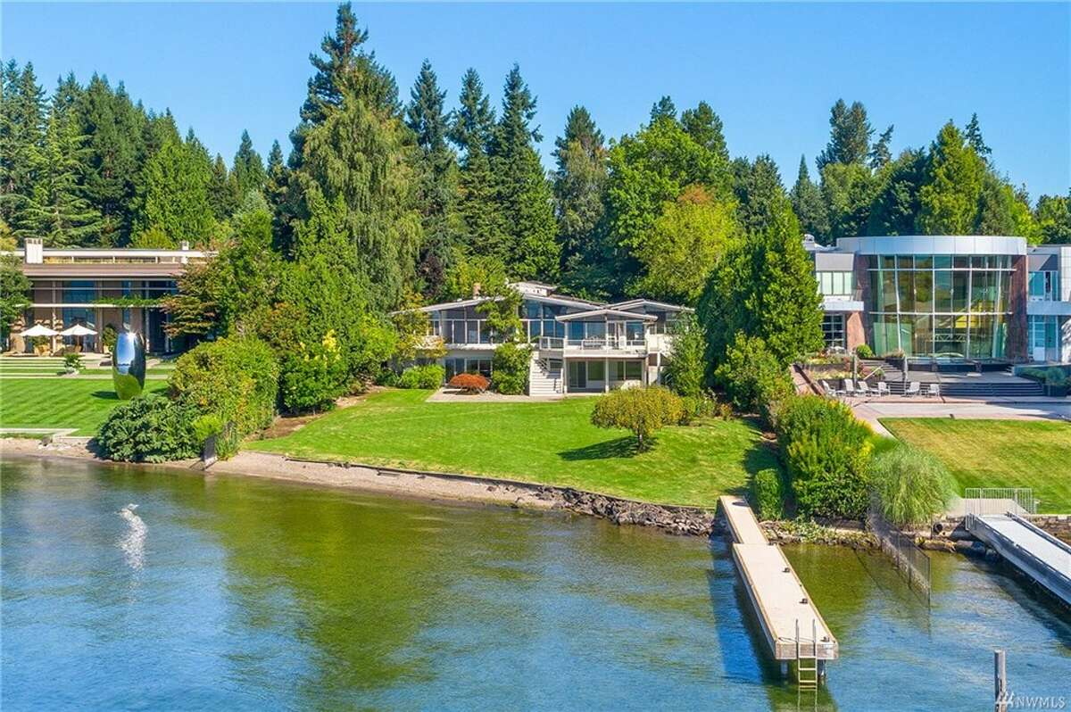 7935 Overlake Dr. W. is right on the water, offering 6 bedrooms, 4.5 baths and 7,150 square feet.