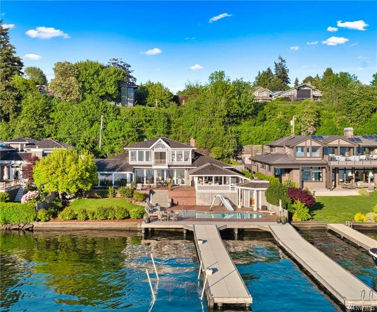 At number one on the list: 7935 Overlake Dr. W., Medina, WA, 98039.