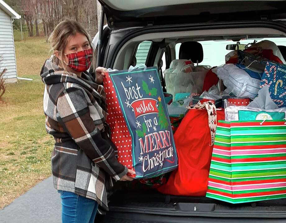 The Manistee Friendship Society recentlyreceived avan full of gifts as part of the Christmas Carol Pillowcase Project. (Courtesy photo)