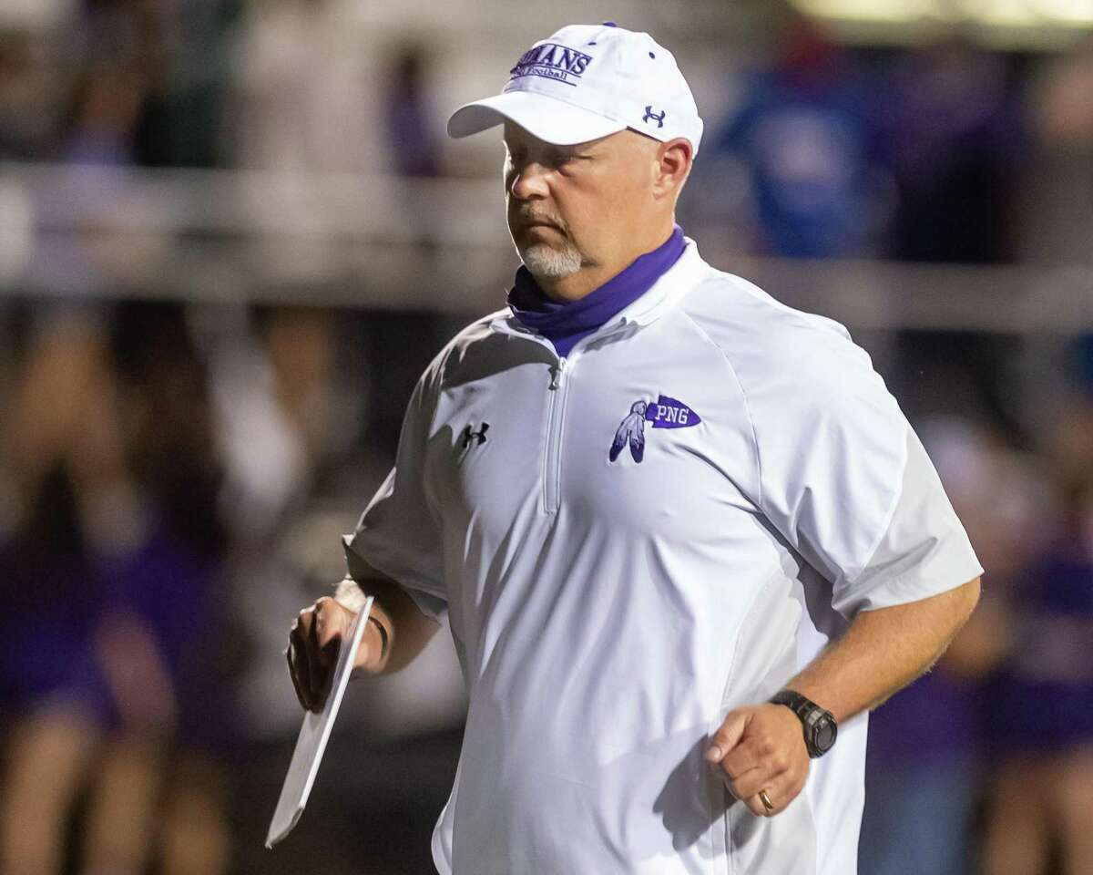Port Neches-Groves Indians coach Brandon Faircloth. Port Neches-Groves hosted Port Arthur Memorial in the 5A season opener for both programs. Photo made on September 25, 2020. Fran Ruchalski/The Enterprise