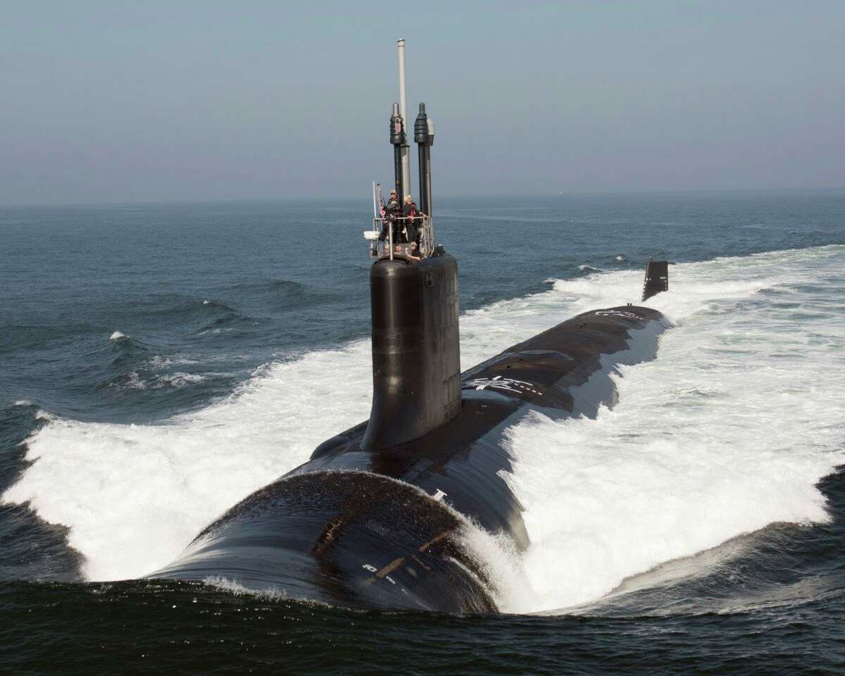 File photo of the future USS South Dakota (SSN 790) underway during sea trials. The Navy accepted delivery of the Block III Virginia-class attack submarine Sept. 24.) (Photo courtesy General Dynamics Electric Boat/RELEASED) (Photo by U.S. Navy)
