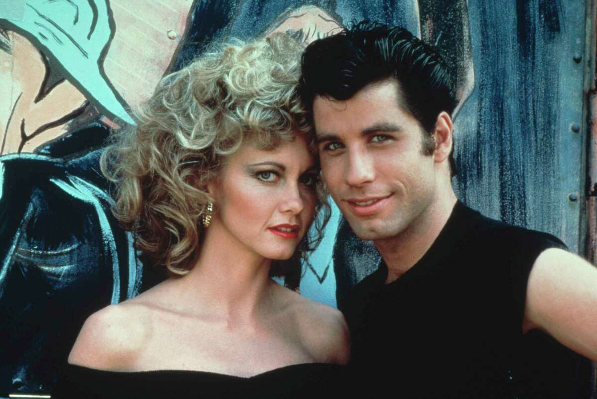 Australian singer and actress Olivia Newton-John and American actor John Travolta as they appear in the Paramount film