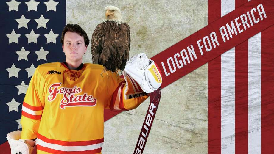 Ferris goalie Logan Stein will be playing for Team USA over the holidays. (Ferris photo)