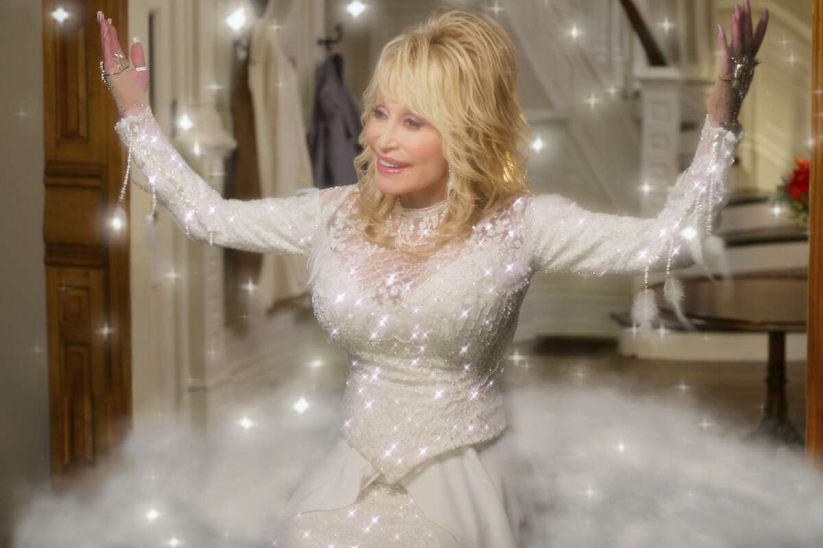 This image released by Netflix shows Dolly Parton in a scene from
