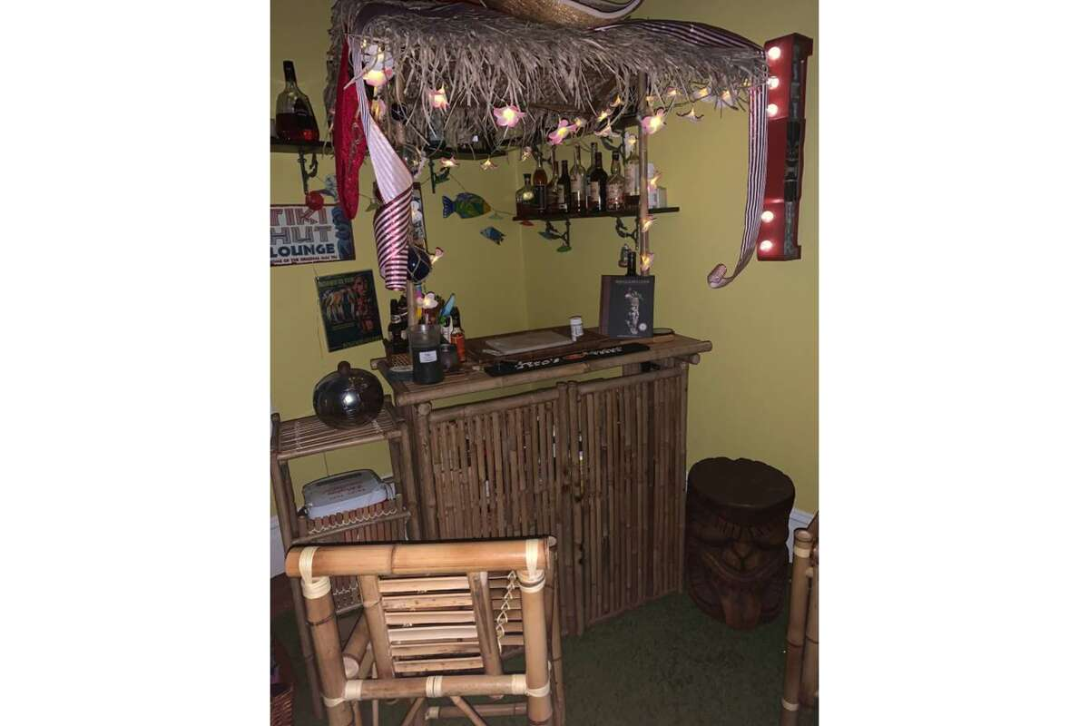 The second bedroom is currently set up as a tiki bar.