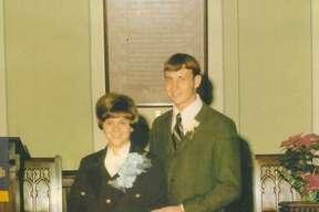George and Dottie Koenig at their wedding.