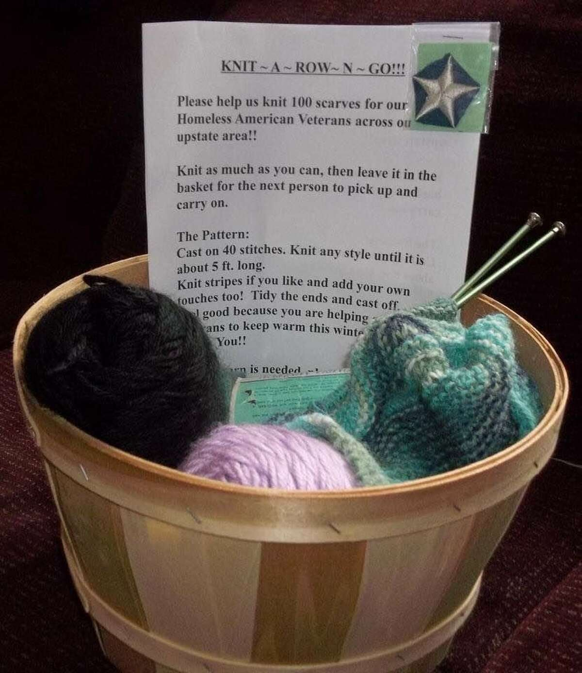 Knit A Row N Go kits have been placed in various locations