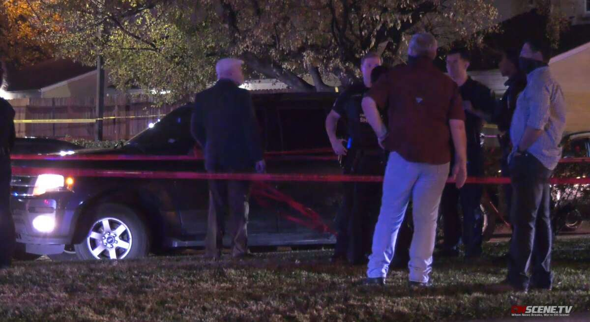 Investigation in the 8000 block of Antoine Drive where a Texas Department of Public Safety trooper fatally shot a suspect Friday night, Dec. 11, 2020.