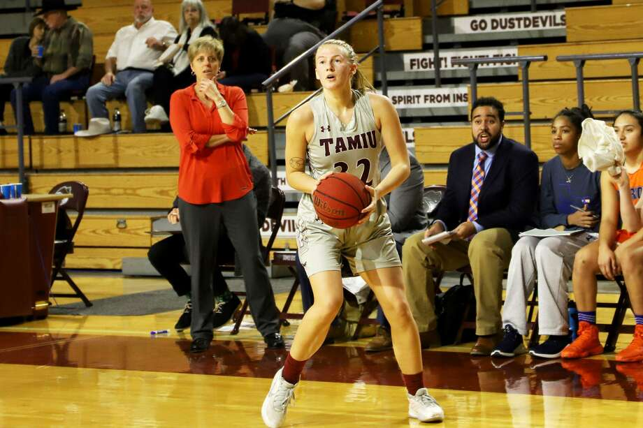 Josselin Geer and TAMIU won their conference opener at home Friday beating Oklahoma Christian 57-51. Photo: Courtesy /TAMIU Athletics
