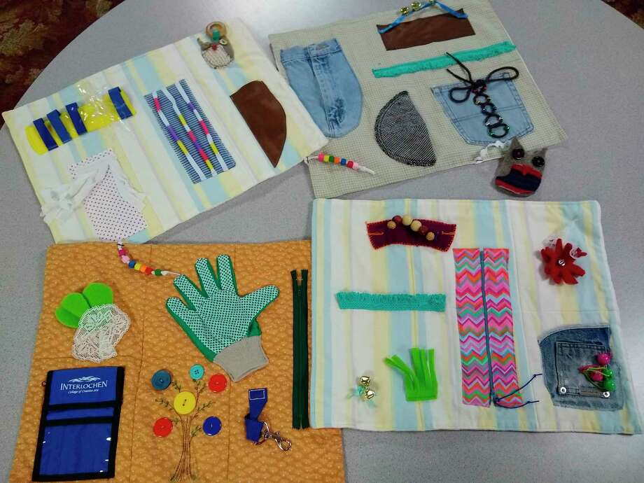 Donated fidget blankets are available at the Manistee County Council on Aging, thanks to a generous donation by the Artsy Women of Onekama. (Courtesy Photo/Jeanne Barber)