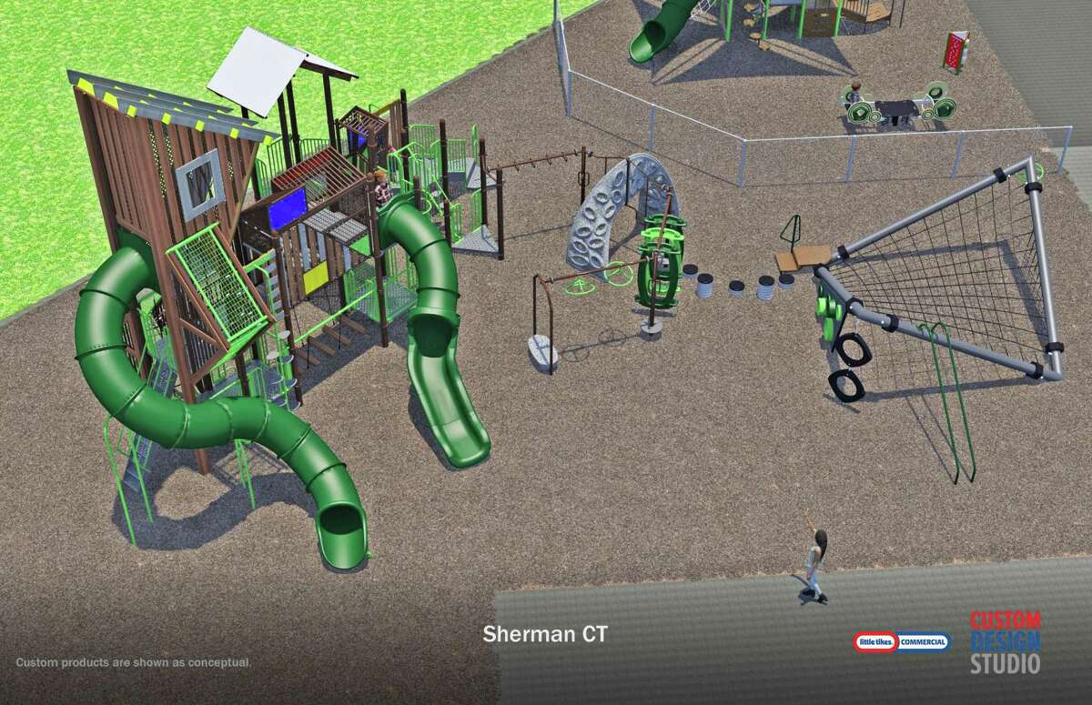 Recommended final design of the proposed playground for Sherman School.