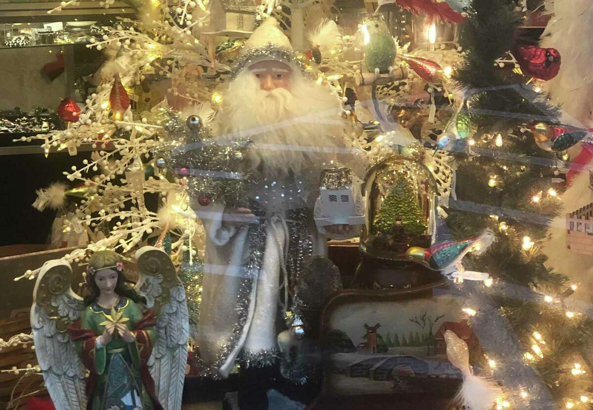 Check out the wonderful winter scenes - inside and out - at Sophia's on Liberty Way.