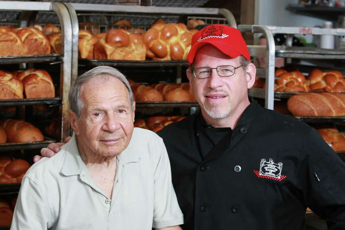 Sigmund Jucker, one of the founders of Three Brothers Bakery, and his son Robert Jucker.