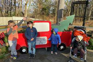 Connecticut's Beardsley Zoo in Bridgeport has a new attraction, a Winter Wonderland Walk with 10 festive vignettes. Young visitors are seen here in The Farmyard. The Winter Wonderland Walk is open daily through Jan. 6, but closes early Christmas Eve and New Year's Eve, and is closed on Christmas and New Year's Day.