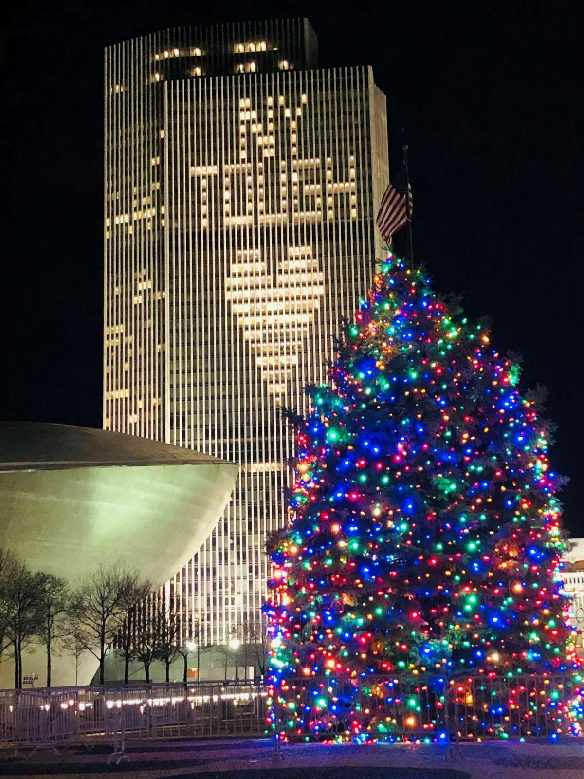 December at the Empire State Plaza (Jon Rocco)