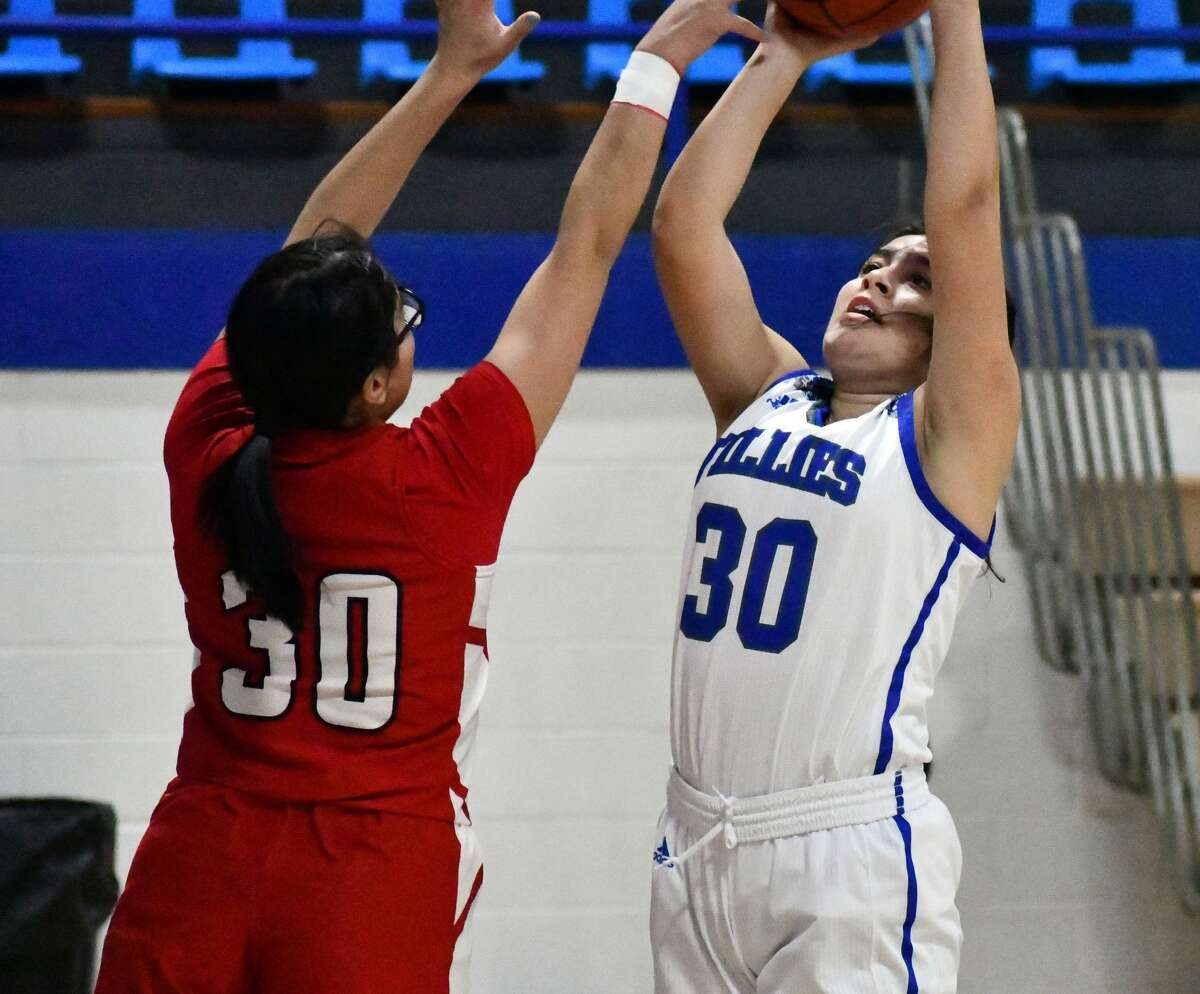 Olton breezed past Loop in a pair of non-district basketball games in Olton Memorial Gymnasiumon Dec. 12, 2020. The Fillies came away with a 54-20 win and the Mustangs got a 95-14 rout.