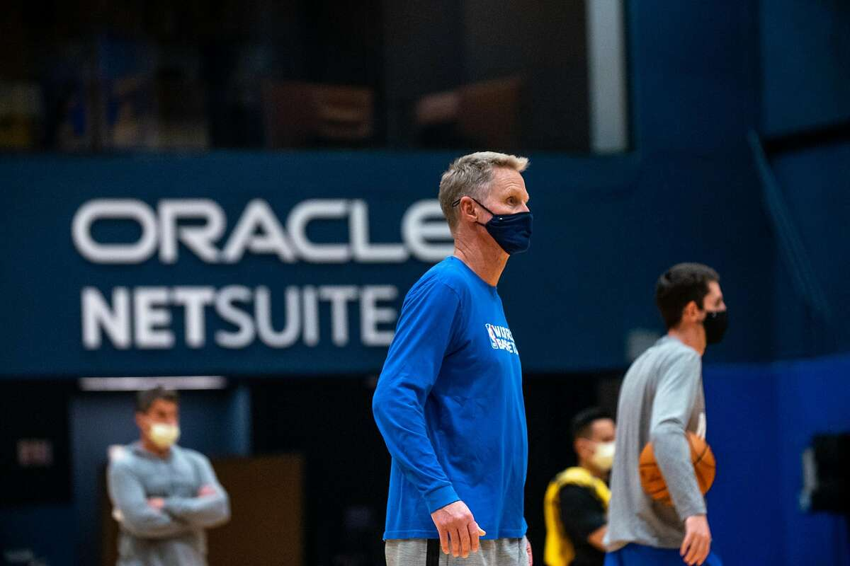 Golden State Warriors� Coach Steve Kerr at practice at Chase Center in San Francisco, Calif. on Dec. 7, 2020.