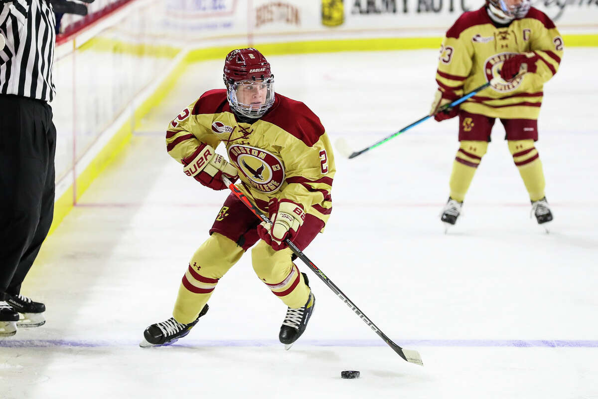 Natalie Tulchinsky of Clifton Park is a freshman forward for the Boston College Eagles. (Provided).