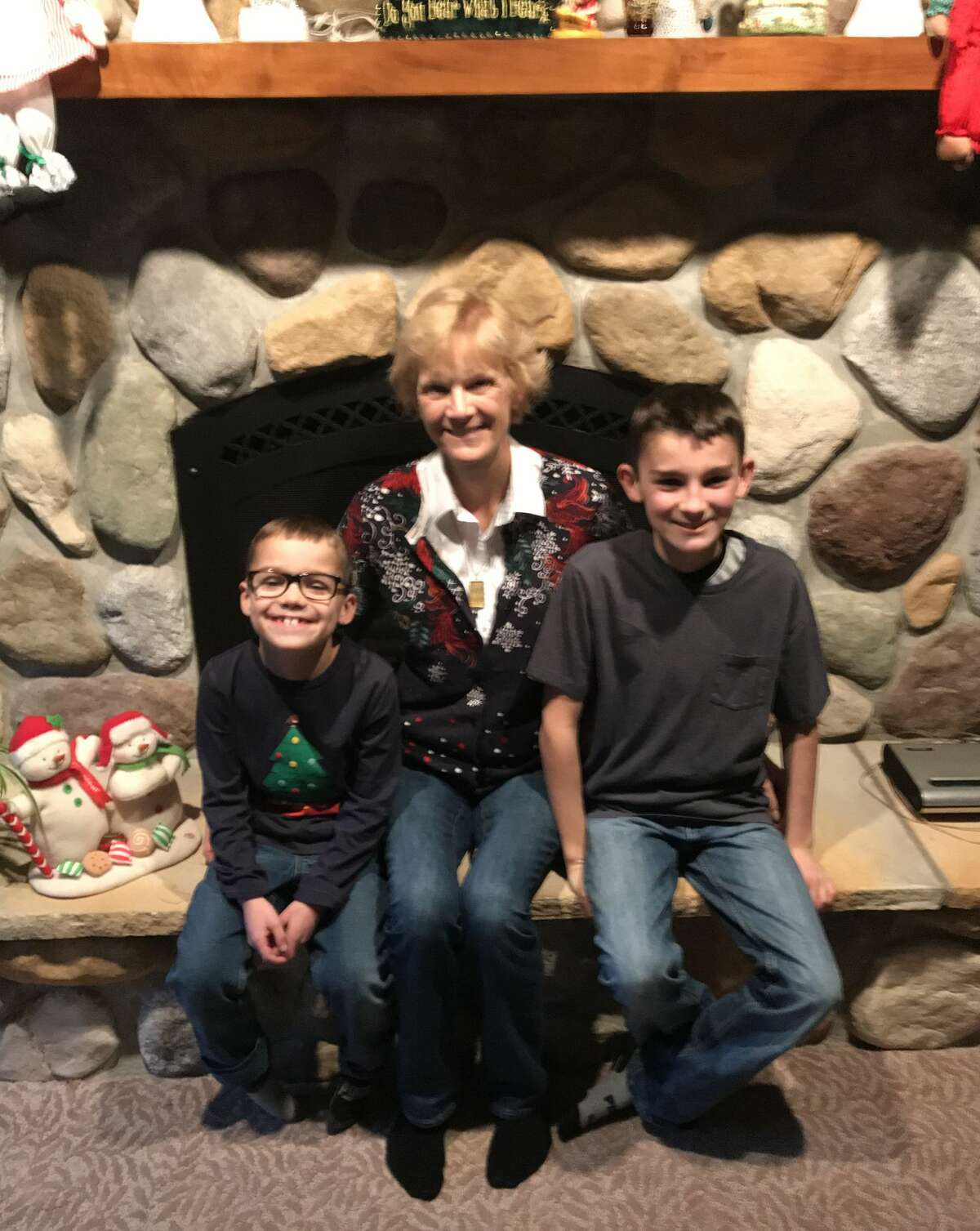 Carol Worch, of Manistee, with her grandsons - Brantley Worch, 8, and Kaden 13. (Courtesy photo)