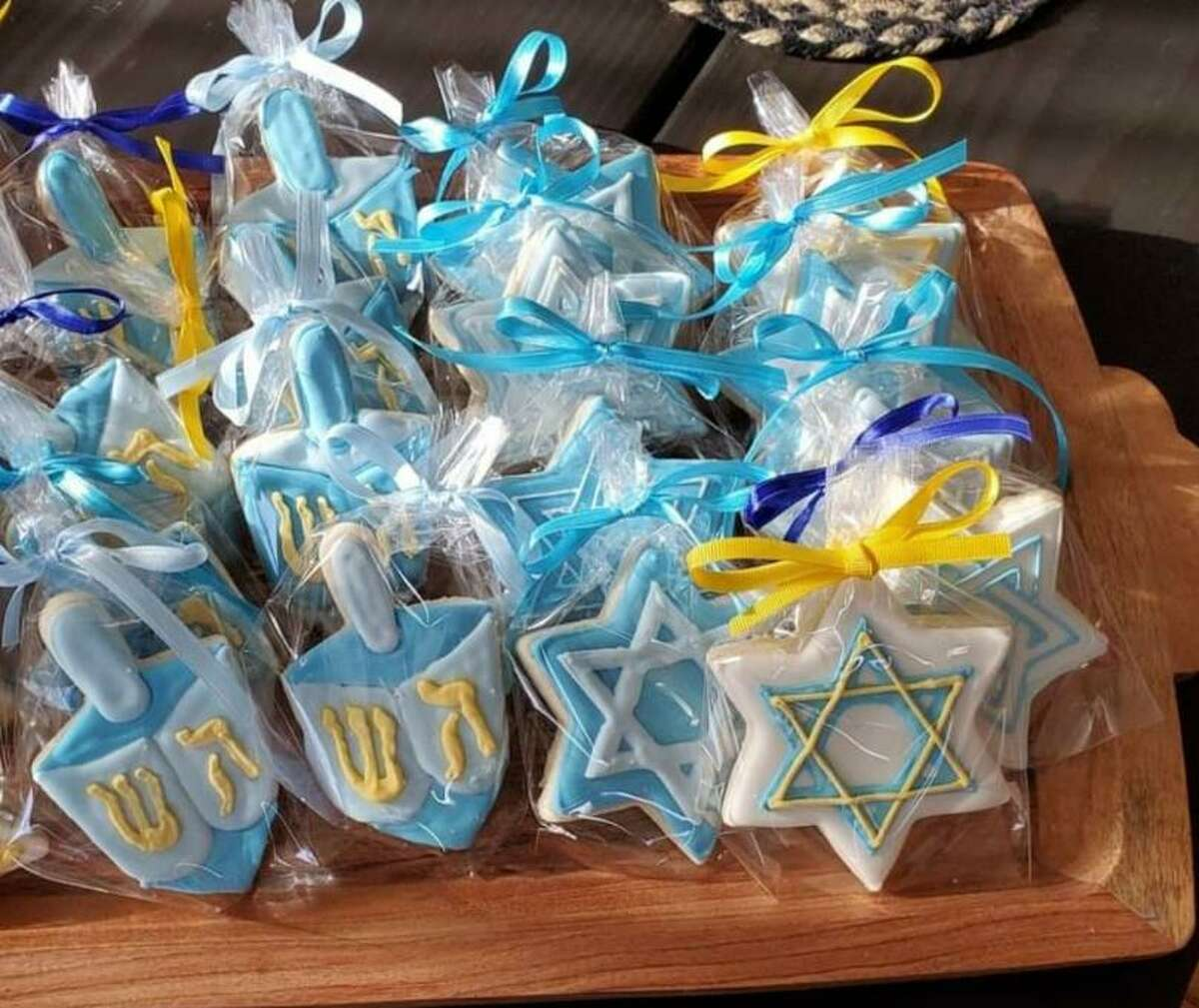 Hanukkah cookies will be available at Emily's Baking Company's next pop-up shop Dec. 19.