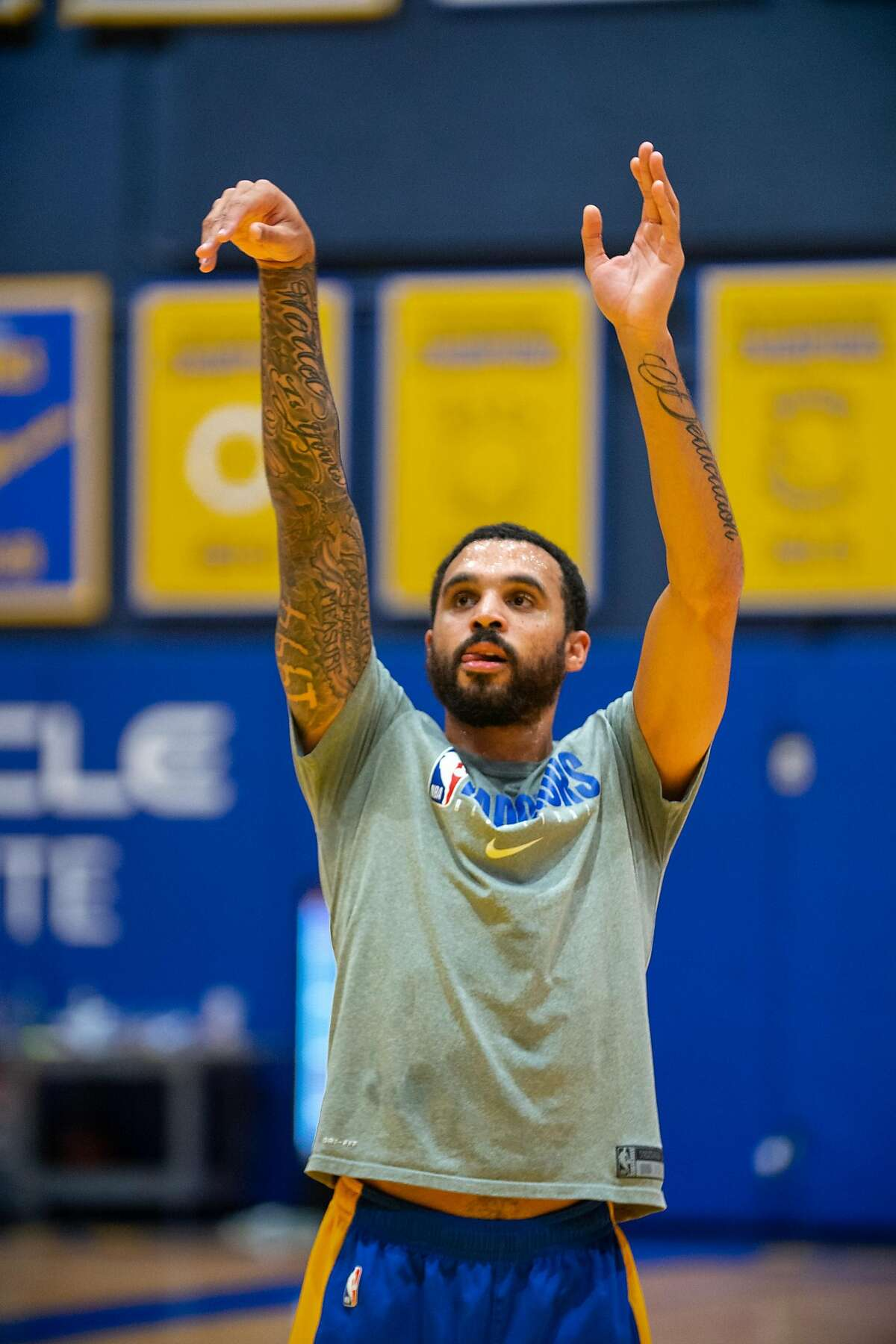 Mychal Mulder follows through during practice earlier this month in San Francisco.