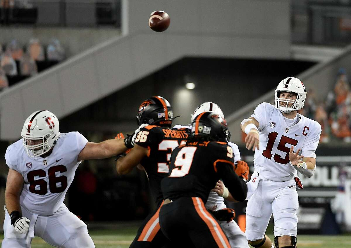Davis Mills passed for 292 yards and a touchdown, and ran for two scores to lead Stanford to a 27-24 victory over Oregon State on Saturday night. Mills completed 21 of 29 passes and did not commit a turnover.