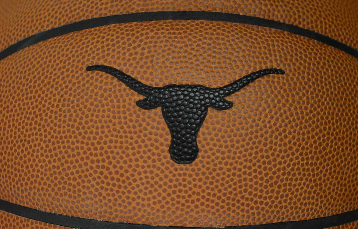 AUSTIN, TX - NOVEMBER 05: The Texas Longhorns logo is embossed on a basketball used during the college basketball game between the Northern Colorado Bears and the Texas Longhorns on November 5, 2019, at the Frank Erwin Center in Austin, TX. (Photo by John Rivera/Icon Sportswire via Getty Images)