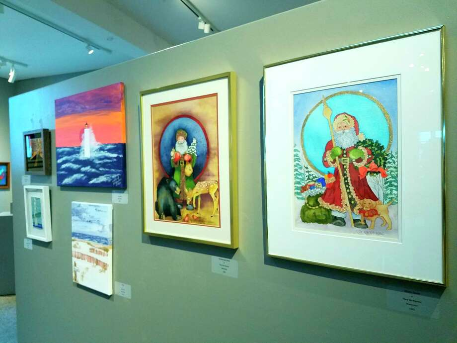 Holiday art is on display at the Annual Winter Member Exhibition at Oliver Art Center. (Photo/Colin Merry)