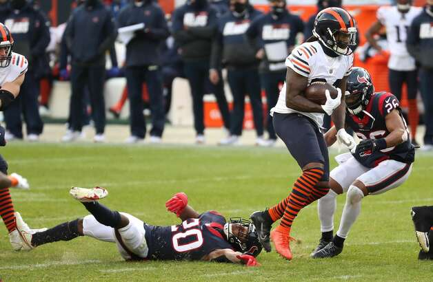Chicago Bears wide receiver Cordarrelle Patterson (84) breaks away from Houston Texans strong safety Justin Reid (20) during the second half of an NFL football game at Soldier Field Sunday, Dec. 13, 2020, in Chicago. Photo: Brett Coomer/Staff Photographer / © 2020 Houston Chronicle