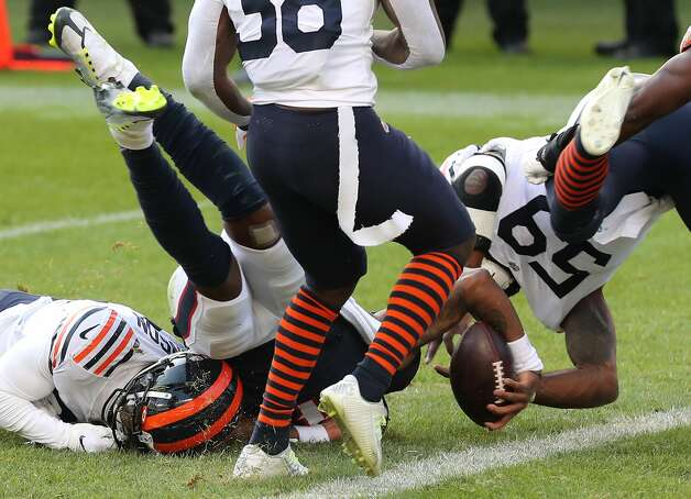 Houston Texans quarterback Deshaun Watson (4) is stopped short of the goal line by the Chicago Bears defense during the second half of an NFL football game at Soldier Field Sunday, Dec. 13, 2020, in Chicago. Photo: Brett Coomer/Staff Photographer / © 2020 Houston Chronicle