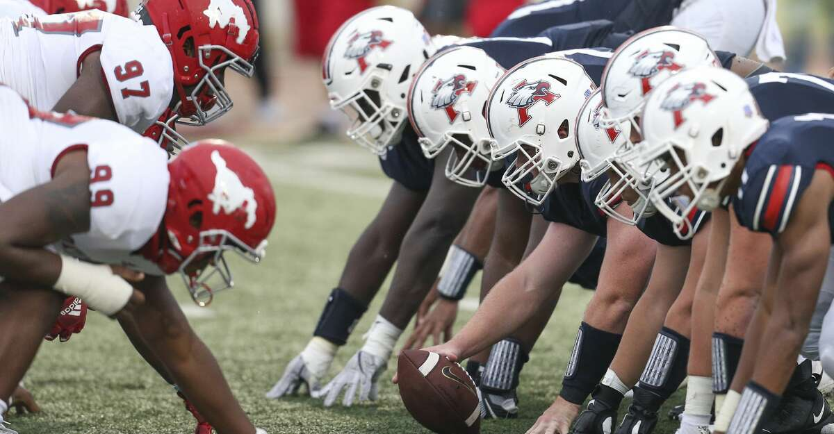 General action between the North Shore Mustangs and the Atascocita Eagles in the second quarter in a high school football game on November 27, 2020 at Turner Stadium in Humble, TX.
