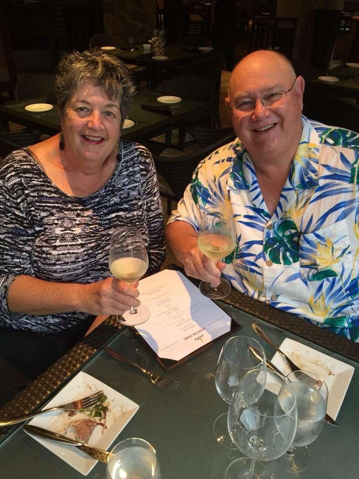 Before: Kevin and Linda Dellsperger have lost 150 pounds together.
