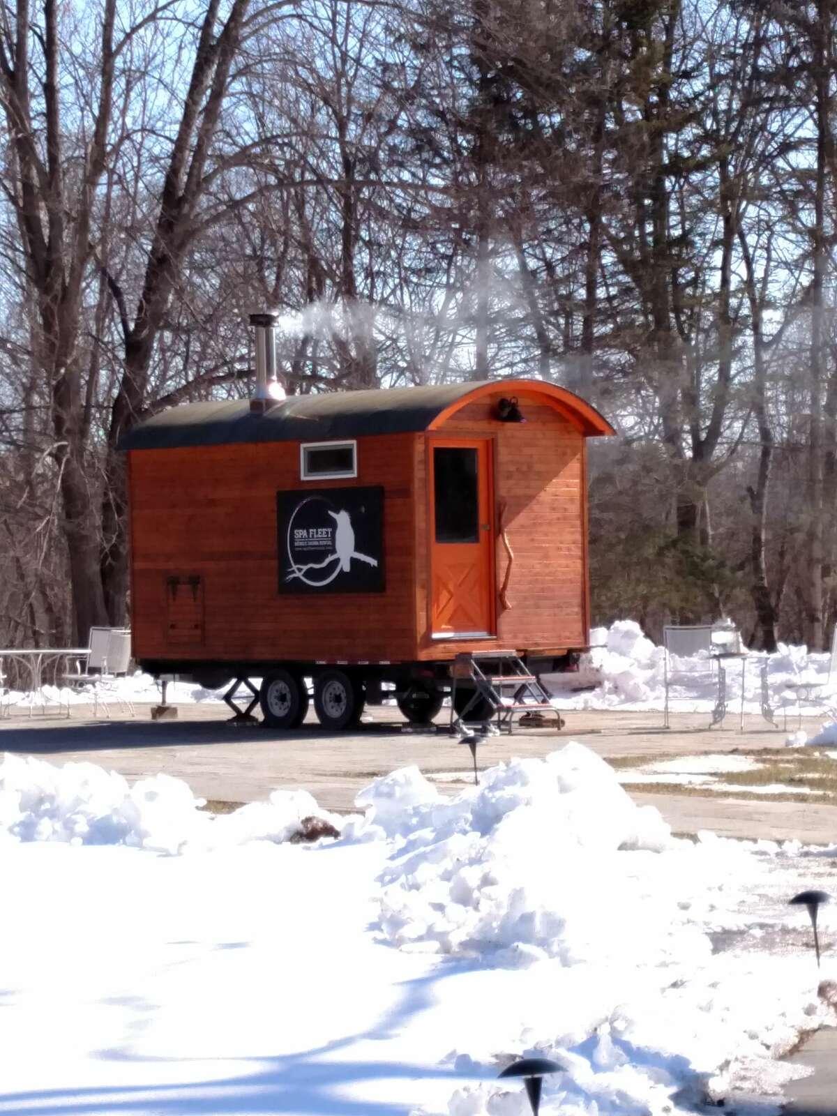 Spa Fleet's Cloudberry mobile sauna.