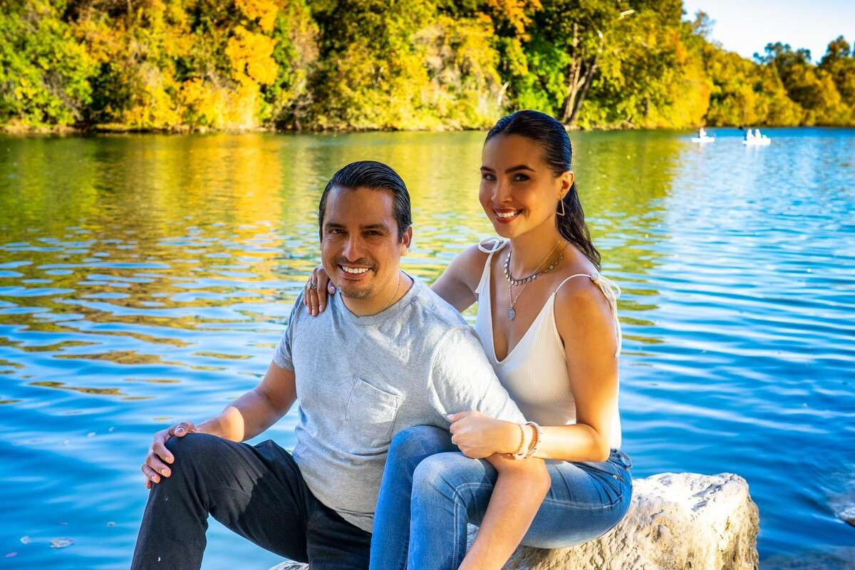 Bequi Sierra and her fiancé Philip Perez.