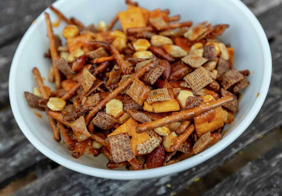 Smoked Sweet and Spicy Chex Party Mix