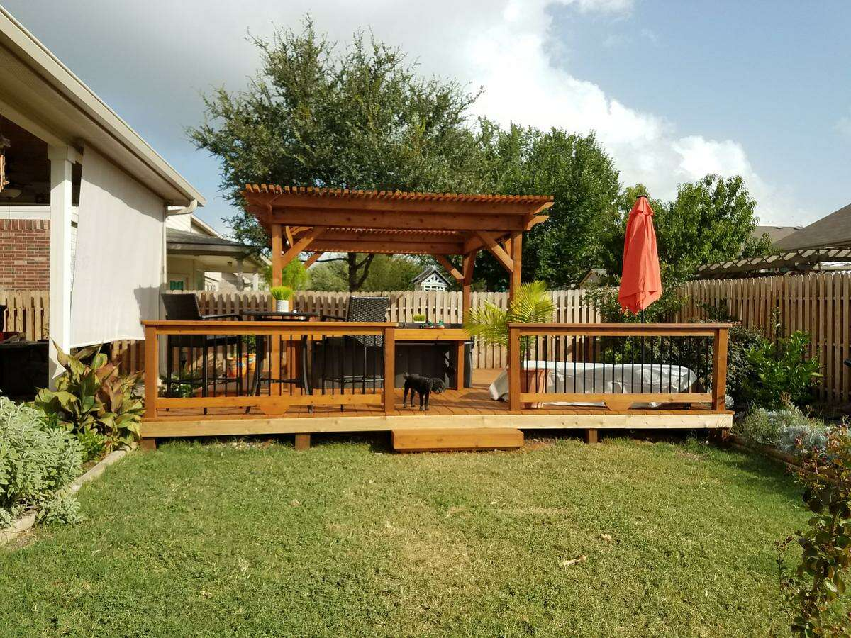 Homeowners who live in a neighborhood with a homeowners association should check the HOA rules before building a deck.