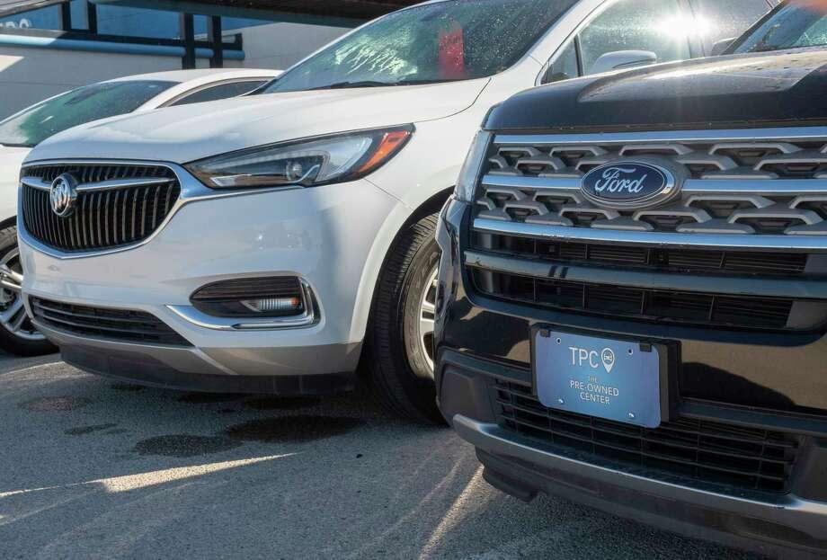 Front license plates on motor vehicles. 12/14/2020  Tim Fischer/Reporter-Telegram Photo: Tim Fischer, Midland Reporter-Telegram
