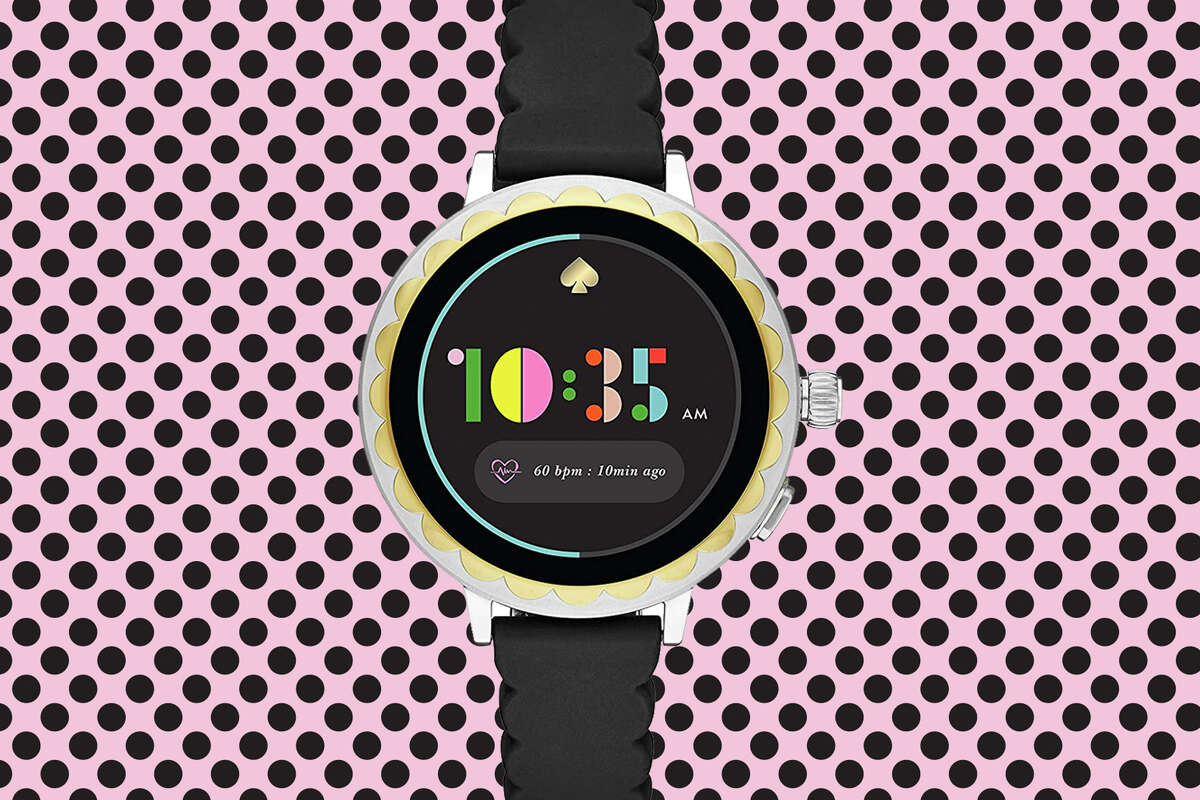 kate spade new york Women's Scallop 2 Stainless Steel Touchscreen smartwatch Watch with Silicone Strapfor $149.00 at Amazon