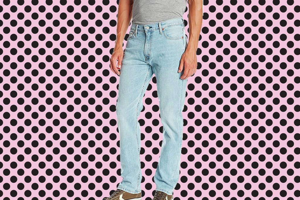 Levi's Men's 513 Stretch Slim Straight Jeanfor $17.37 at Amazon