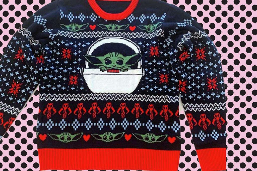 Baby Yoda (Grogu) Ugly Holiday Sweatersfor $15.00 at GameStop