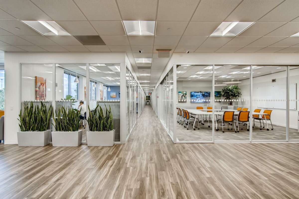 A 7,000-square-foot Office Evolution site is planned for North San Antonio. Brian and Nerrida Koster of Austin will own and run the coworking space. Shown is an Office Evolution location in Houston.