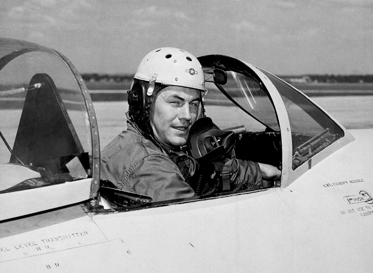 In this 1948 photo, Chuck Yeager in 1948. He didn't just have the right stuff, he worked diligently at being an exceptional pilot. Rest in peace.