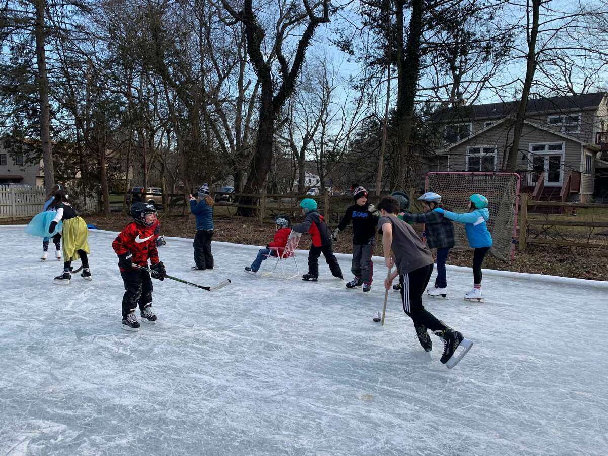 Hudson Valley resident Cree Frappier for years has made a DIY ice skating rink in his front yard to embrace the joys of winter.